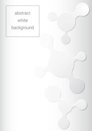 white grey abstract background with several flat liquid shapes  イラスト・ベクター素材