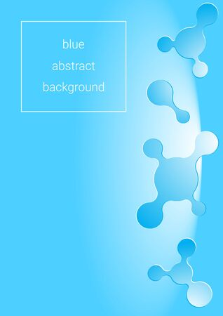 blue abstract background with liquid forms for your design