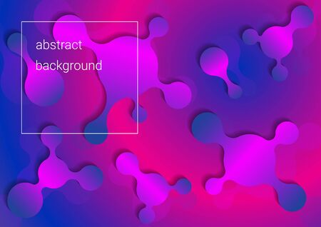 colorful bright abstract background with various flat liquid shapes  イラスト・ベクター素材