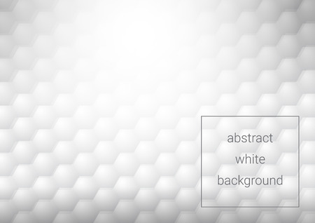 White abstract texture. Hexagon pattern.Vector background 3d paper art style can be used in cover design, book design, poster, cd cover, flyer, website backgrounds or advertising.