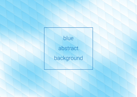 blue abstract background , pattern consisting of rhombuses, nice cover for template and layout  イラスト・ベクター素材