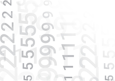 On a white background are columns of various gray numbers with different transparency.