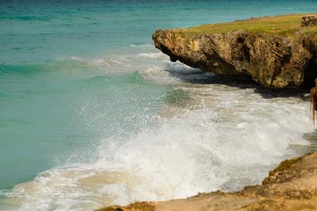 varadero: Varadero in Cuba,the ocean view from rocky cliff