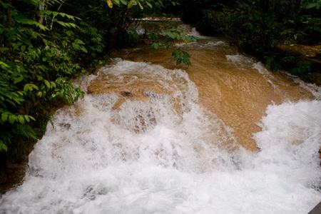 beautiful, cascading waterfall in El Nicho, Cuba Stock Photo