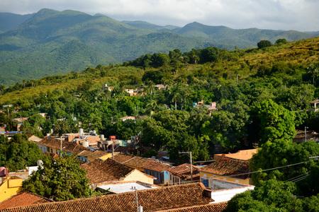 Colonial town. Cityscape of Trinidad, Cuba. UNESCO World Heritage Site Stock Photo