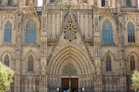 The Cathedral is dedicated to the Holy Cross and Saint Eulalia, the patron Saint of Barcelona in Catalonia, Spain