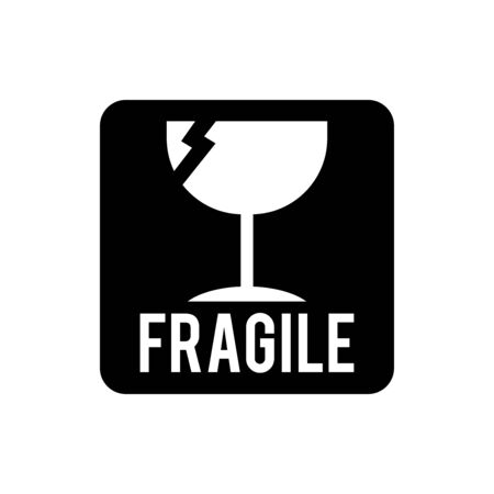 Fragile icon signage vector trendy