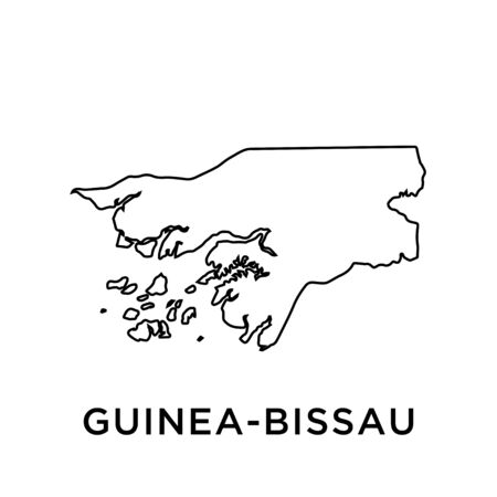 GUINEA - BISSAU map vector design template
