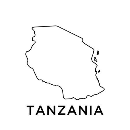Tanzania map vector design template