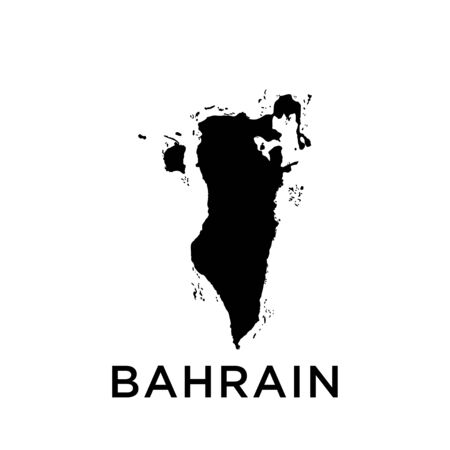 Bahrain map vector design template