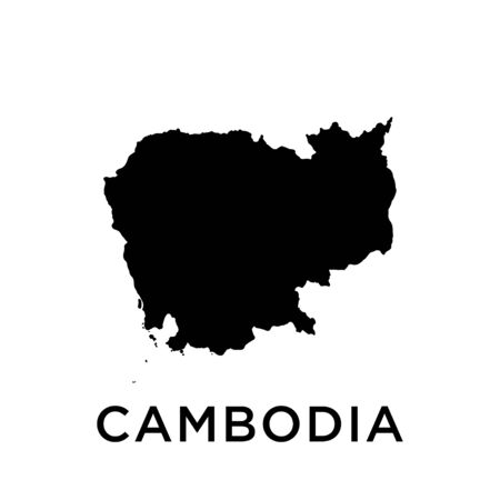 Cambodia map vector design template