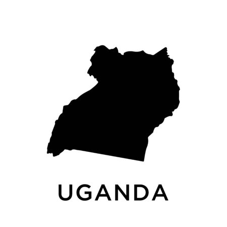 Uganda map vector design template