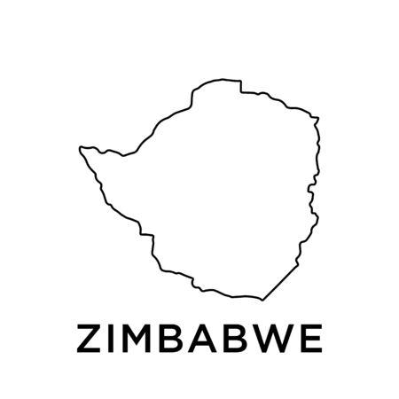 Zimbabwe map vector design template