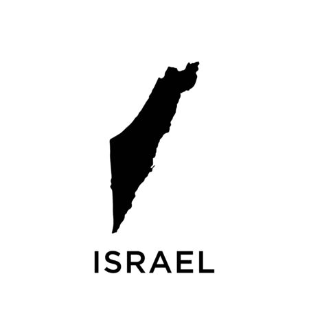 Israel map vector design trendy Illustration