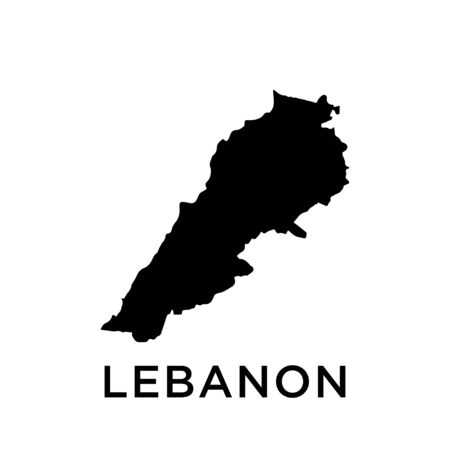 Lebanon map vector design template