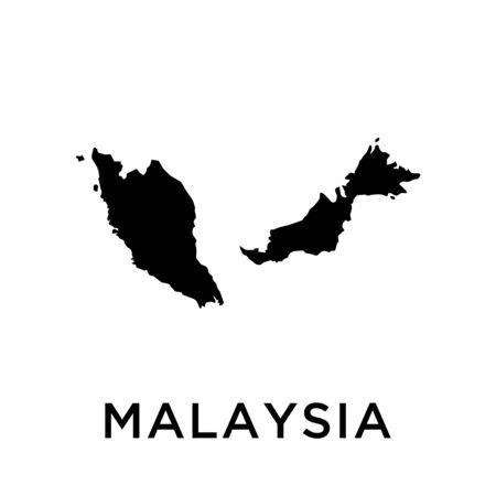 Malaysia map vector design template