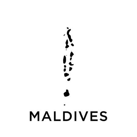 Maldives map vector design template