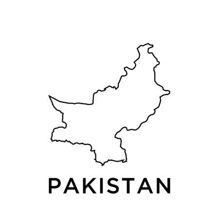 Pakistan map vector design template