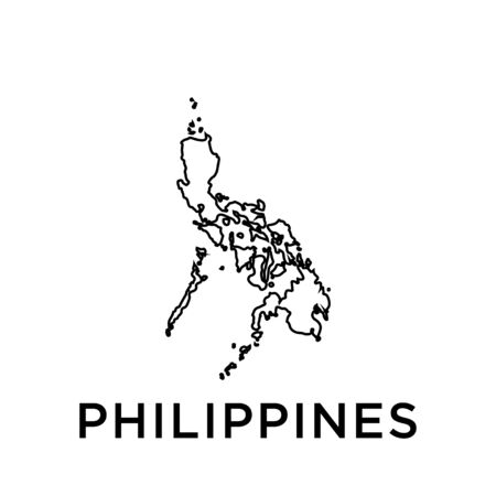 Philippines map vector design template