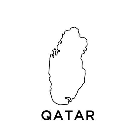 Qatar map vector design template Ilustração