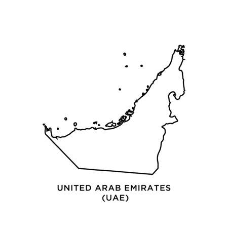 Asia map : United Arab Emirates (UAE) vector design template