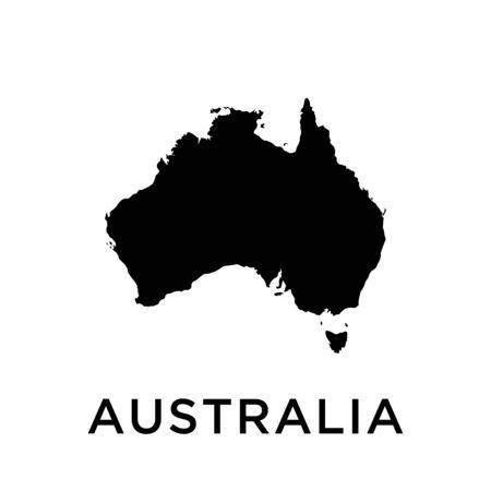 Australia map vector design template
