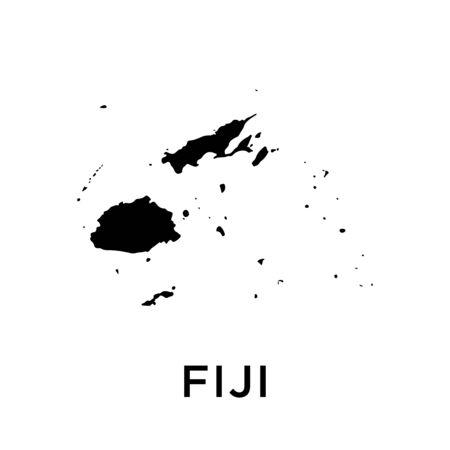 Fiji map vector design template Ilustrace