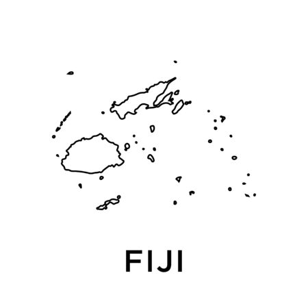 Fiji map vector design template Illustration