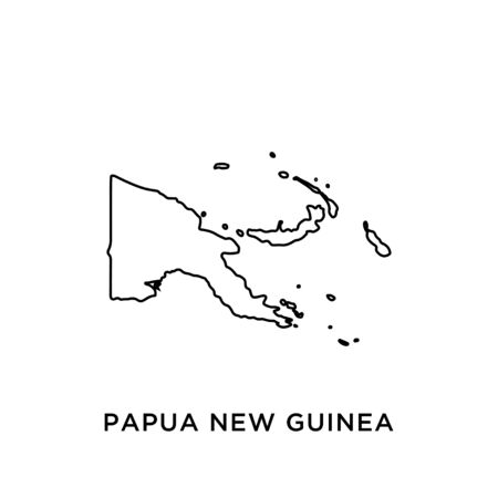 Papua New Guinea map vector design template