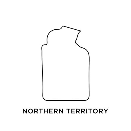 Northern Territory map vector design template