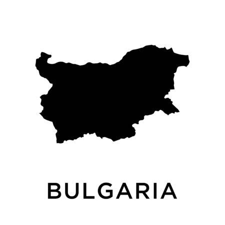 Bulgaria map vector design template