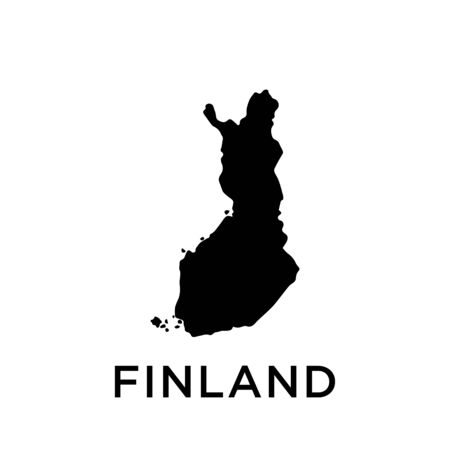 Finland map vector design template