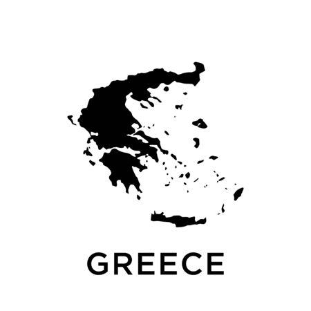 Greece map vector design template