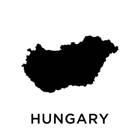 Hungary map vector design template