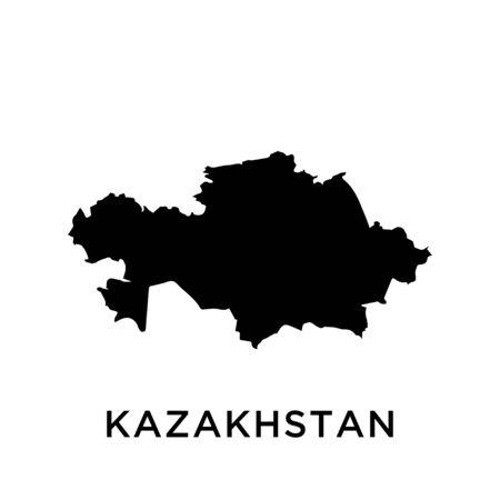 KAZAKHSTAN map vector design template