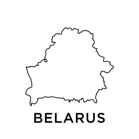 Belarus map vector design template