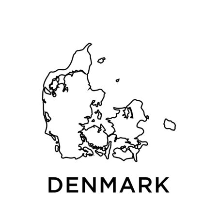 Denmark map vector design template Ilustracje wektorowe