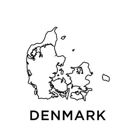 Denmark map vector design template Vektoros illusztráció