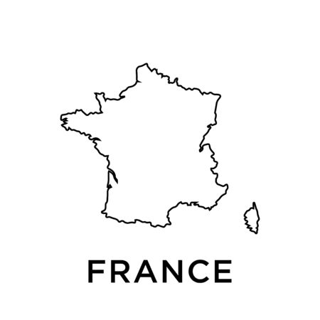 France map vector design template