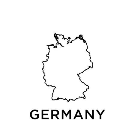 Germany map vector design template Ilustrace