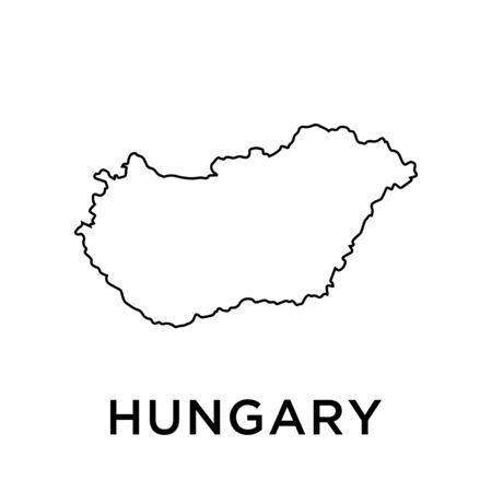 Hungary map vector design template