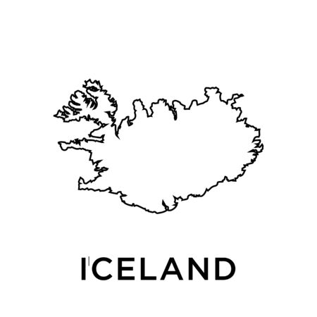 Iceland map vector design template