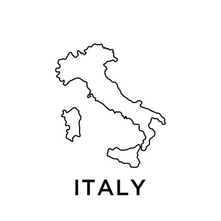 Italy map vector design template