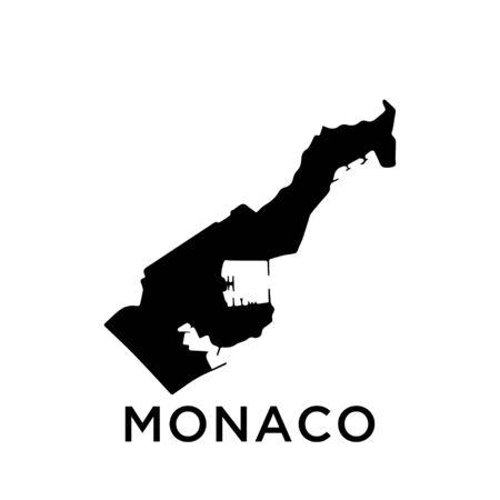Monaco map vector design template Ilustração