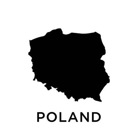 Poland map vector design template