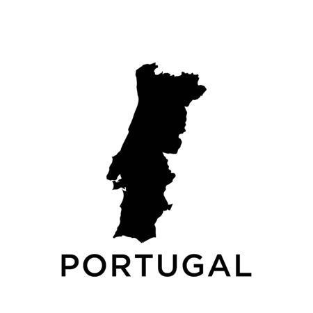 Portugal map vector design template 向量圖像
