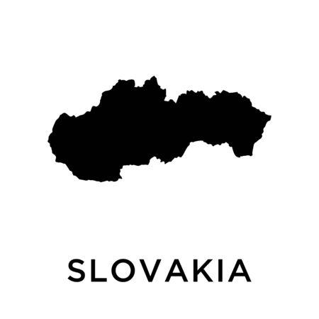 Slovakia map vector design template Illusztráció