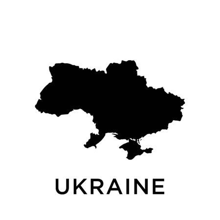Ukraine map template design trendy Illusztráció