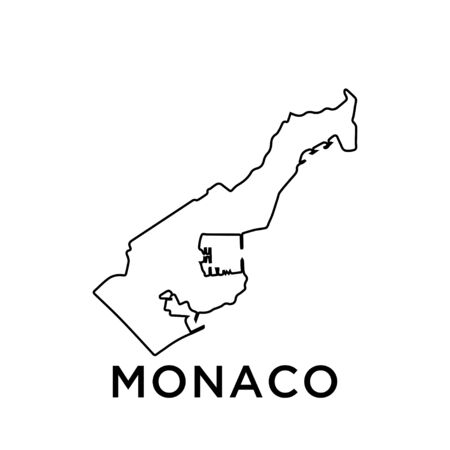 Monaco map vector design template