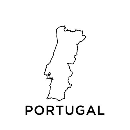 Portugal map vector design template 矢量图像